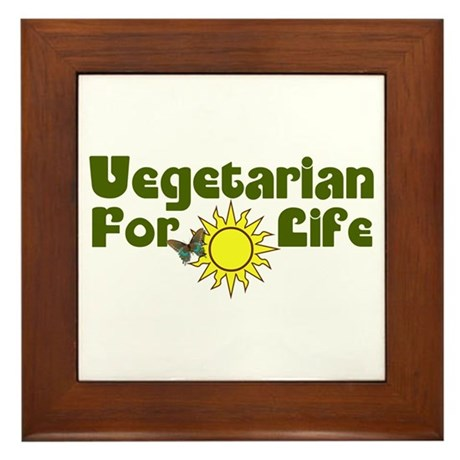 Vegetarian For Life Framed Tile