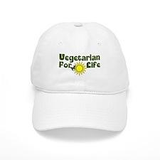 Vegetarian For Life Baseball Cap