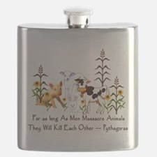 Pythagoras Vegetarian Quote Flask