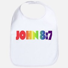 JOHN 8:7 Cotton Baby Bib