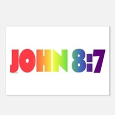 JOHN 8:7 Postcards (Package of 8)