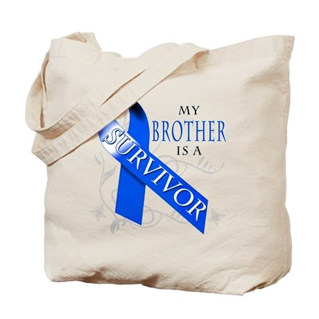 My Brother is a Survivor (blue) Tote Bag