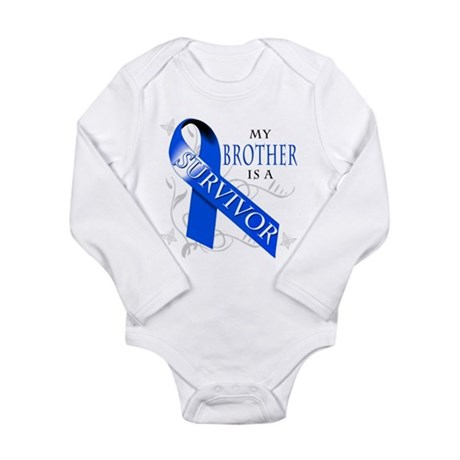 My Brother is a Survivor (blue) Long Sleeve Infant