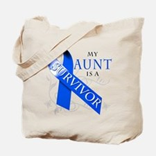 My Aunt is a Survivor (blue) Tote Bag