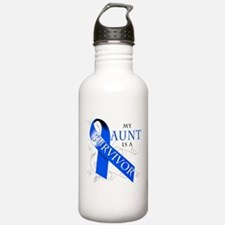 My Aunt is a Survivor (blue) Water Bottle