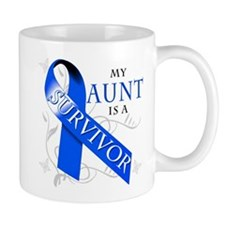 My Aunt is a Survivor (blue) Mug