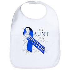 My Aunt is a Survivor (blue) Bib