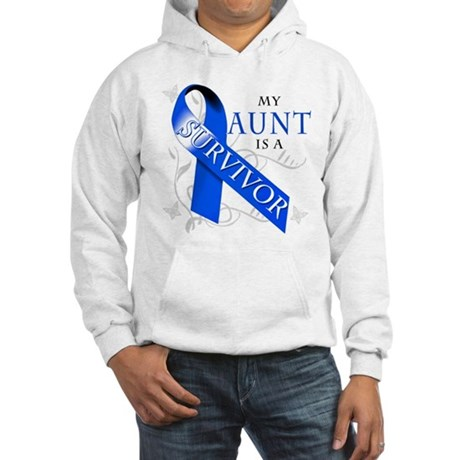 My Aunt is a Survivor (blue) Hooded Sweatshirt