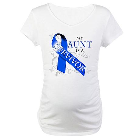 My Aunt is a Survivor (blue) Maternity T-Shirt