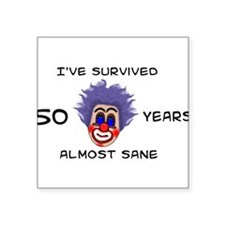 """50years01.png Square Sticker 3"""" x 3"""""""