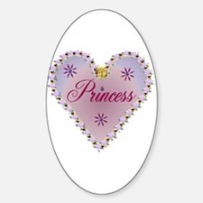 Princess Heart Oval Decal