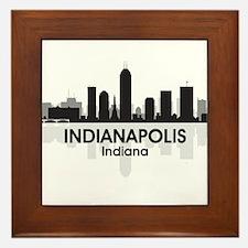 Indianapolis Skyline Framed Tile