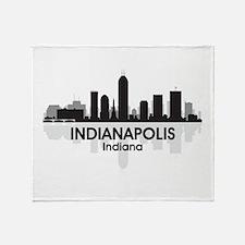 Indianapolis Skyline Throw Blanket