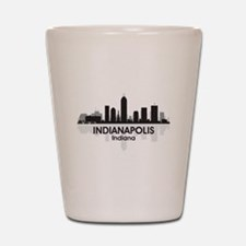 Indianapolis Skyline Shot Glass