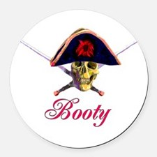 Booty01.png Round Car Magnet
