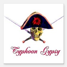 "typhoongypsy01.png Square Car Magnet 3"" x 3"""
