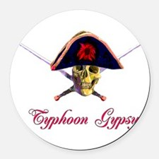 typhoongypsy01.png Round Car Magnet