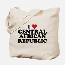 I Love Central African Republic Tote Bag