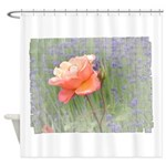 Romantic Rose and Lavender Shower Curtain