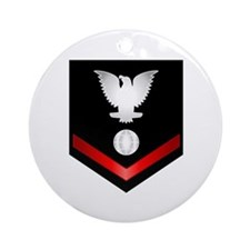 Navy PO3 Electrician's Mate Ornament (Round)