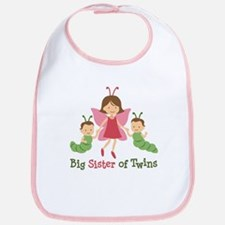 Big Sister of Twins - Butterfly Bib