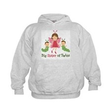 Big Sister of Twins - Butterfly Hoody