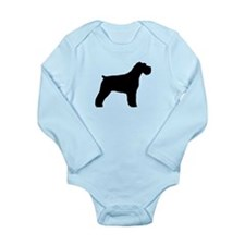 Floppy Ears Schnauzer Long Sleeve Infant Bodysuit