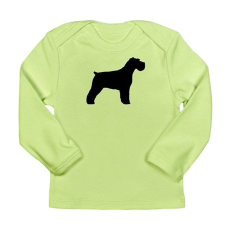 Floppy Ears Schnauzer Long Sleeve Infant T-Shirt