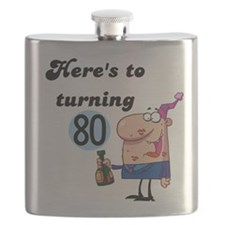 80th Birthday Flask