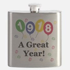 1918 A Great Year Flask