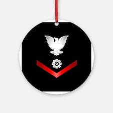 Navy PO3 Engineman Ornament (Round)