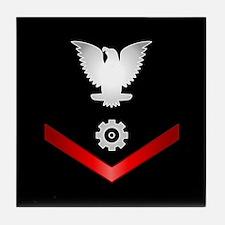 Navy PO3 Engineman Tile Coaster