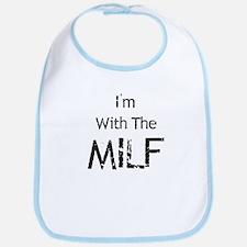 I'm With MILF Bib
