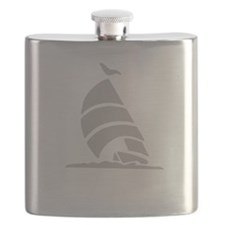 Sailboat Silhouette Flask