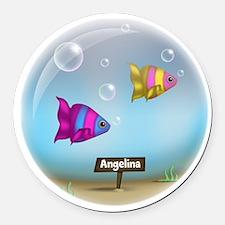 Under the Sea Aquarium - Personalized Round Car Ma