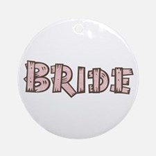 Country Wedding Bride Ornament (Round)