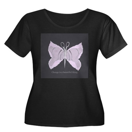 Change is a beautiful thing Women's Plus Size Scoo