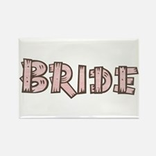 Country Wedding Bride Rectangle Magnet