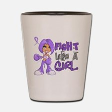 Licensed Fight Like a Girl 42.8 H Lymph Shot Glass