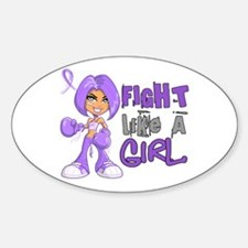 Licensed Fight Like a Girl 42.8 H L Decal