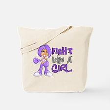 Licensed Fight Like a Girl 42.8 H Lymphom Tote Bag