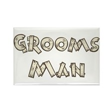 Country Wedding Groomsman Rectangle Magnet