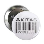 Akita Priceless Weathered Barcode Button