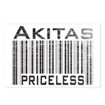 Akita Priceless Weathered Barcode Postcards (Packa