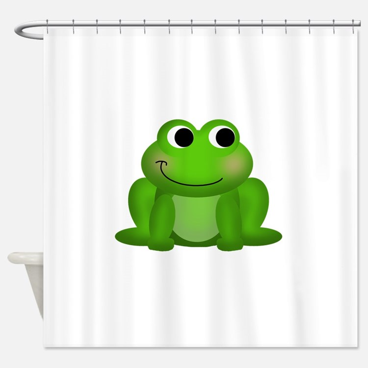 Cute Froggy Shower Curtain