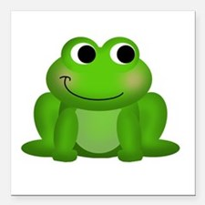 """Cute Froggy Square Car Magnet 3"""" x 3"""""""
