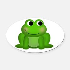 Cute Froggy Oval Car Magnet