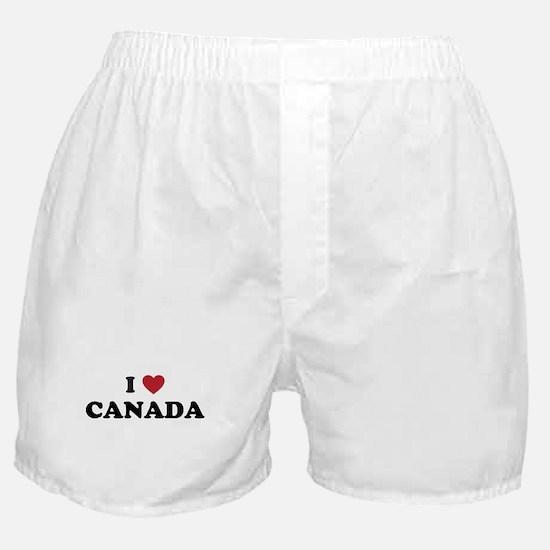 I Love Canada Boxer Shorts