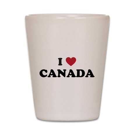 I Love Canada Shot Glass