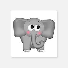 """Adorable Elephant Square Sticker 3"""" x 3"""""""
